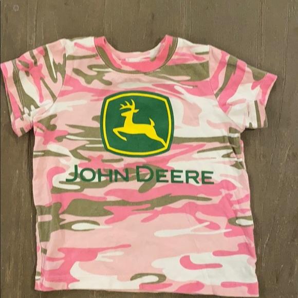 JOHN DEERE pink camo T-shirt 4T